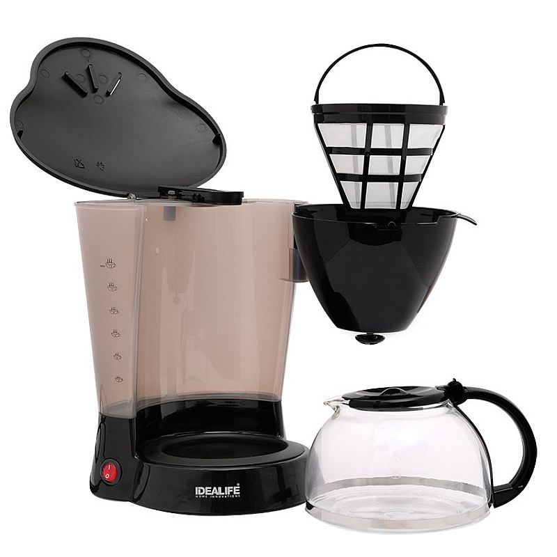 IDEALIFE - Coffee Maker – Mesin Pembuat Kopi - IL–218 (1.1Litre / 10-11 cups)