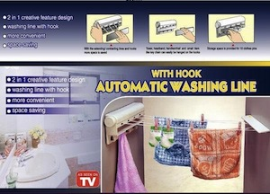 ASOTV - Automatic Washing Line With Hook - Alat Bantu Jemur Pakaian - Automatic Washing Line
